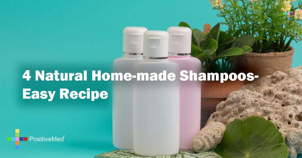 4 Natural Home-made Shampoos- Easy Recipe