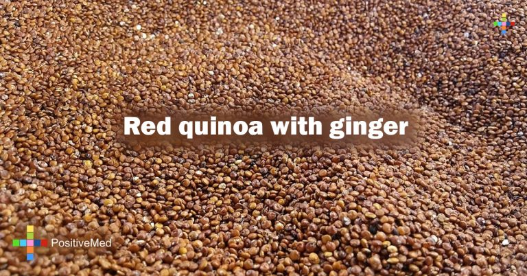 Red quinoa with ginger