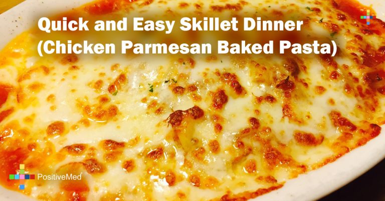 Quick and Easy Skillet Dinner (Chicken Parmesan Baked Pasta)