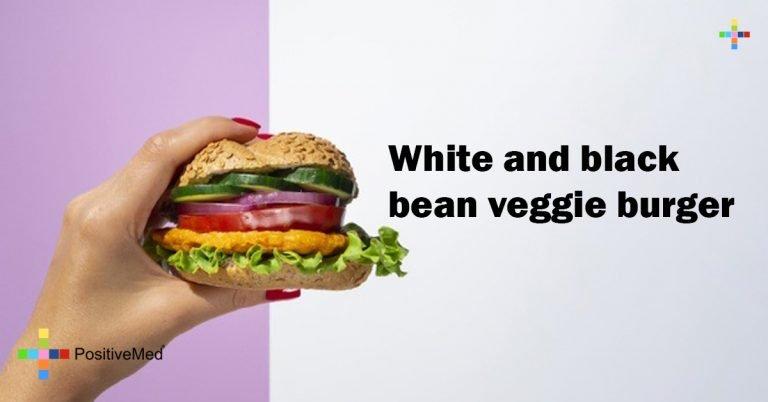 White and black bean veggie burger