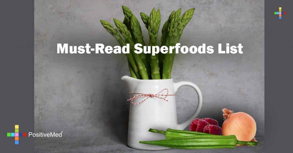 Must-Read Superfoods List