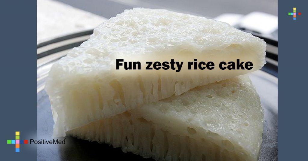 Fun zesty rice cake