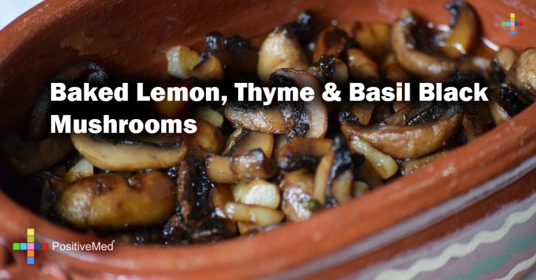 Baked Lemon, Thyme & Basil Black Mushrooms