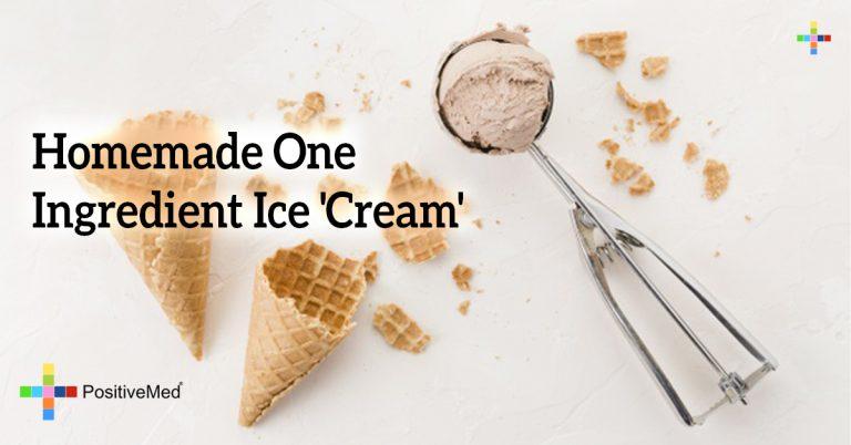 Homemade One Ingredient Ice 'Cream'
