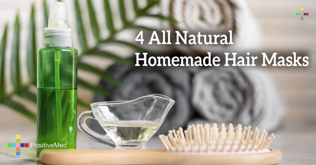 4 All Natural Homemade Hair Masks