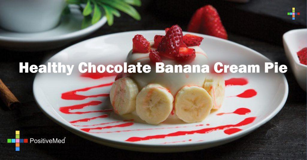 Healthy Chocolate Banana Cream Pie