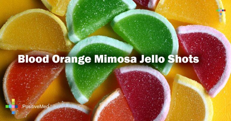 Blood Orange Mimosa Jello Shots