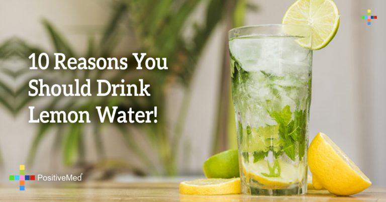 10 Reasons You Should Drink Lemon Water!