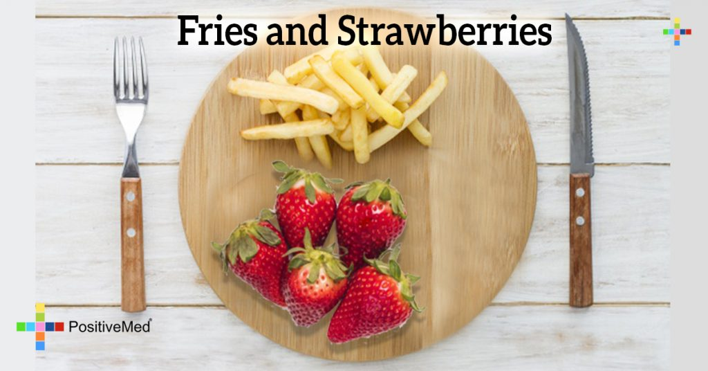 Fries and Strawberries