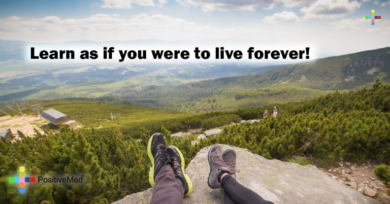 Learn as if you were to live forever!
