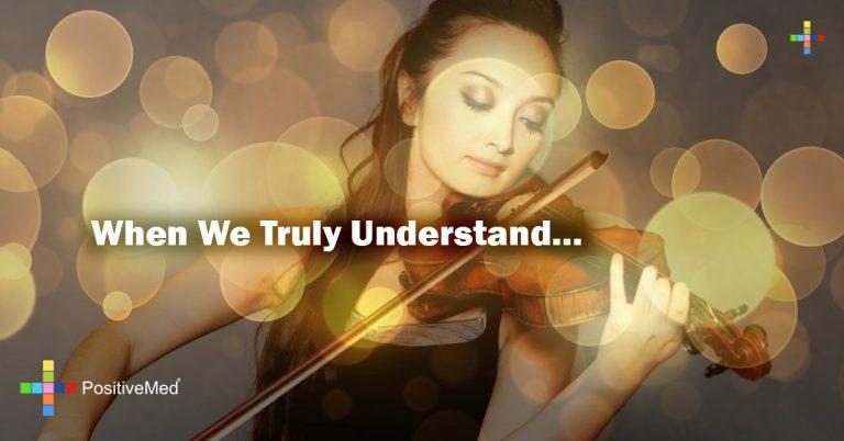 When We Truly Understand…
