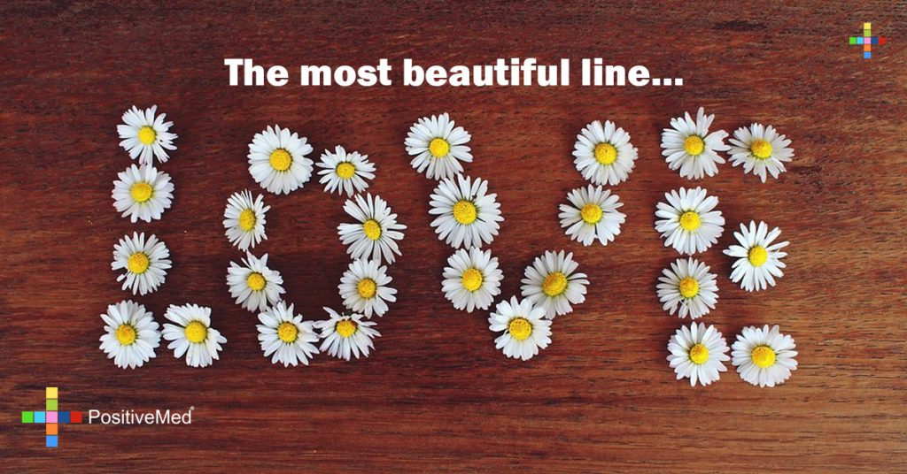 The most beautiful line...