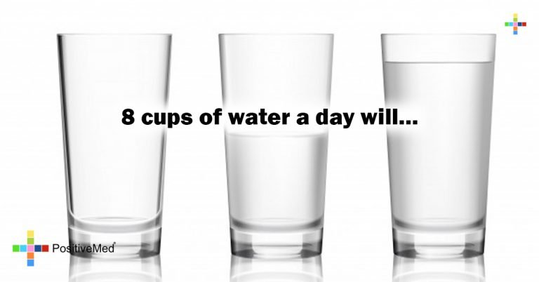 8 cups of water a day will…