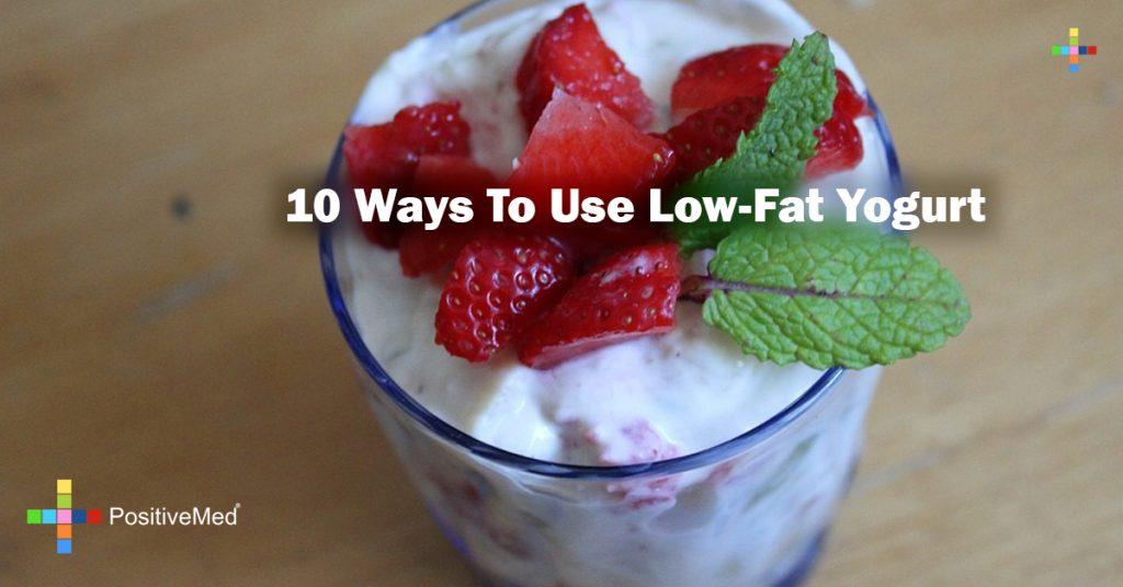 10 ways to use low-fat yogurt