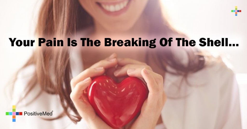 Your pain is the breaking of the shell...