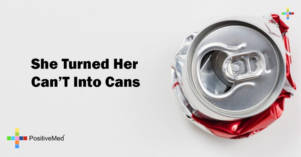 She turned her can't into cans