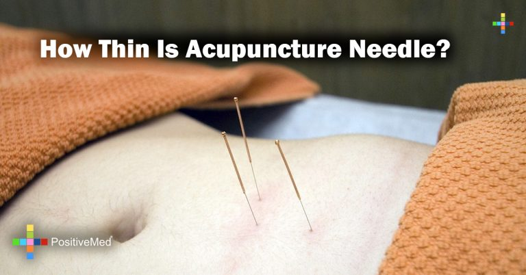How thin is acupuncture needle?