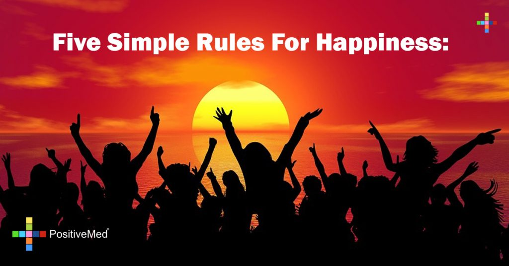 Five simple rules for happiness: