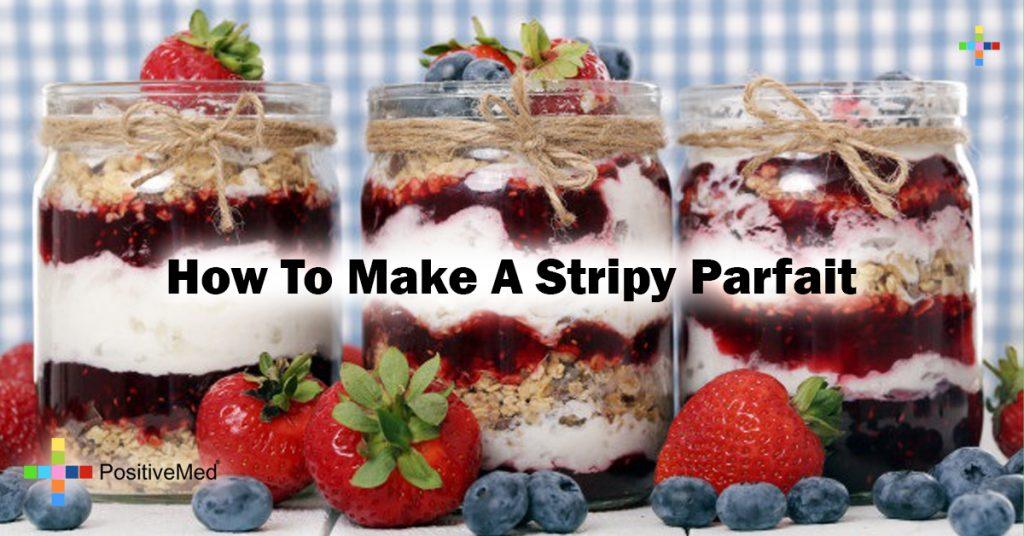 How to make a stripy parfait