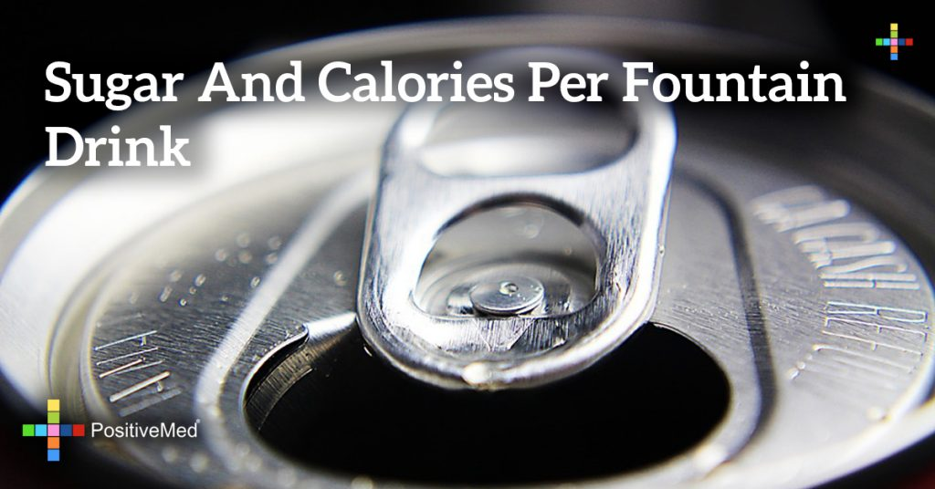 Sugar and calories per fountain drink