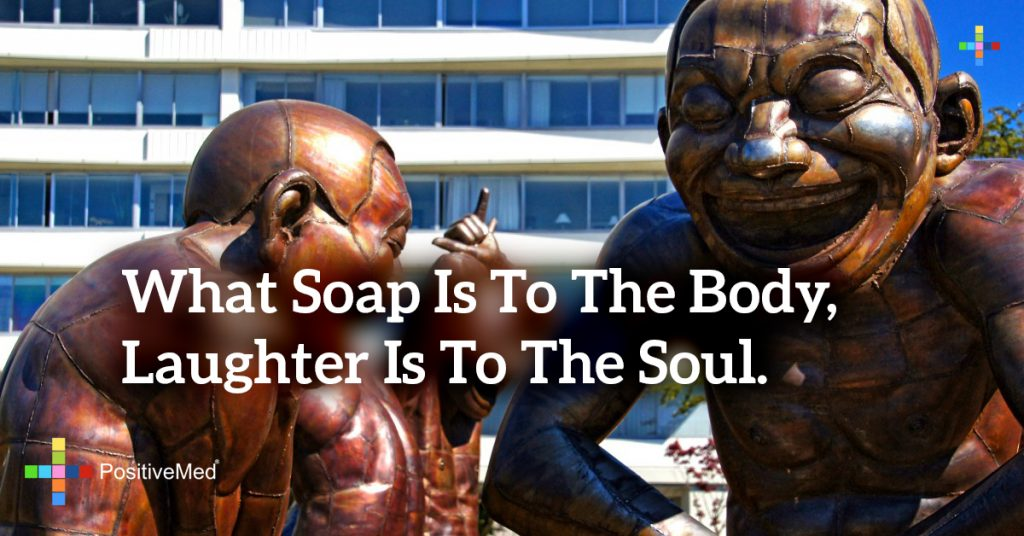 What soap is to the body, laughter is to the soul.