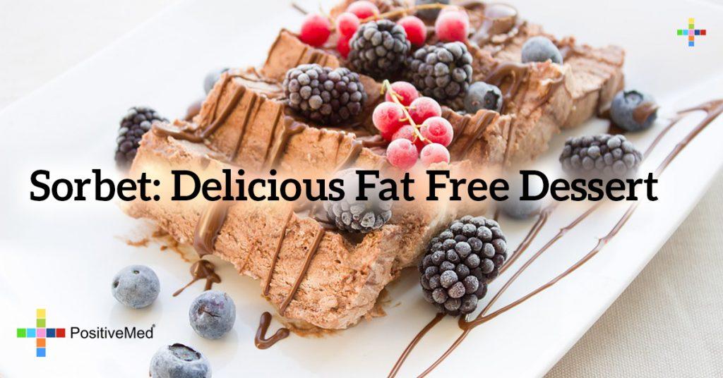 Sorbet: delicious fat free dessert