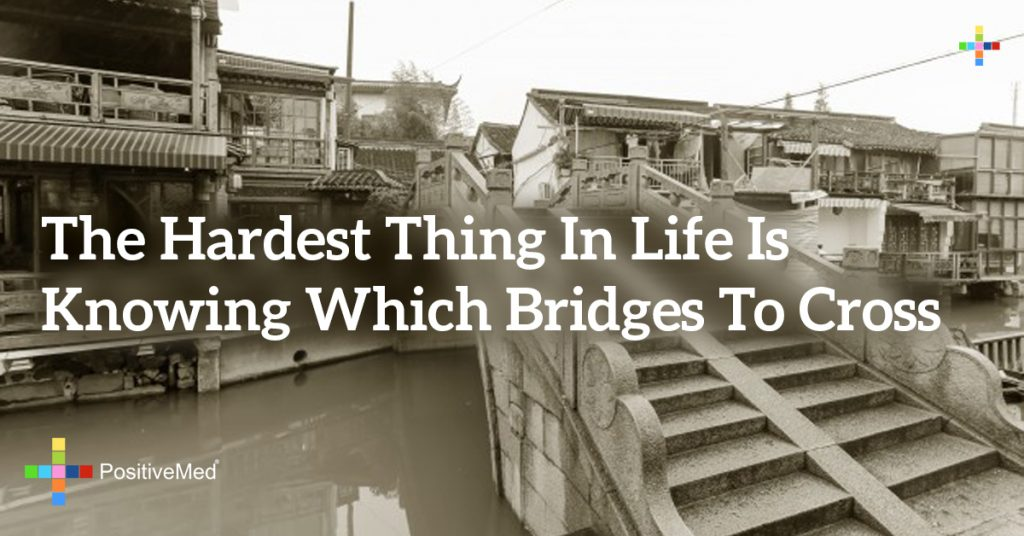 the hardest thing in life is knowing which bridges to cross