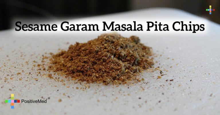 Sesame Garam Masala Pita Chips