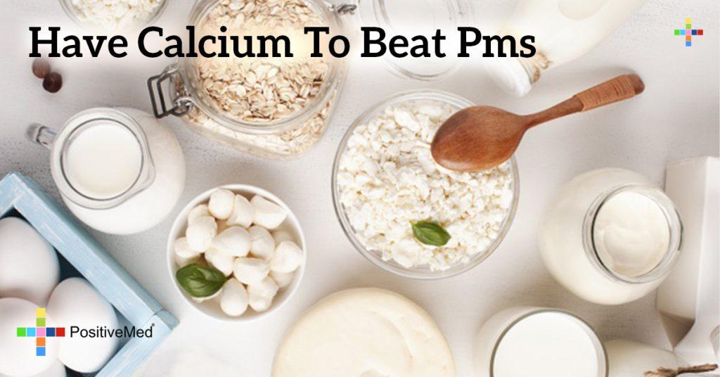 Have Calcium to Beat PMS