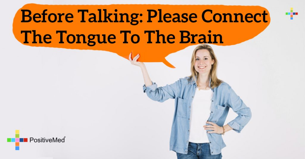 Before talking: Please connect the tongue to the brain