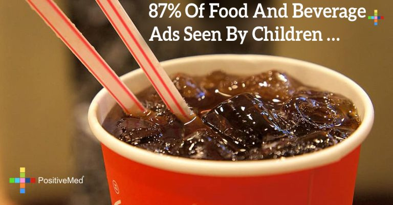 87% of food and beverage ads seen by children …